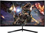 Sceptre 24' Curved 144Hz Gaming LED Monitor Edge-Less AMD FreeSync DisplayPort HDMI, Machine Black (C248B-144RN)