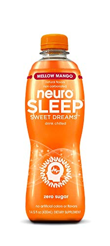 neuroSLEEP | Mellow Mango | Functional Beverage for Restful Sleep, Non-Carbonated; Pack of 12 (14.5oz each)