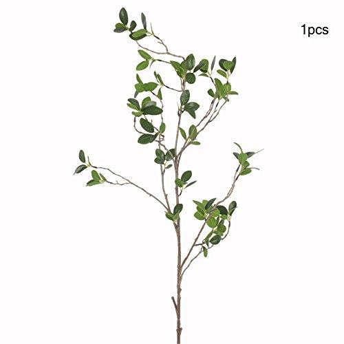 """jarown 42""""artificial Ficus ramas de eucalipto Artificial Plantas con hojas verdes árbol Steams para casa jardín decoración DIY, plástico, Verde, 4 piezas"""