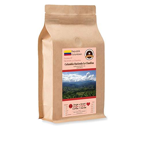 Kaffee Globetrotter - Kaffee Mit Herz - Colombia Hacienda La Claudina - 500 g Grob Gemahlen - für Stempel-kanne French-Press Kaffeebereiter - Spitzenkaffee Fair Gehandelt Unterstützt Soziale Projekte