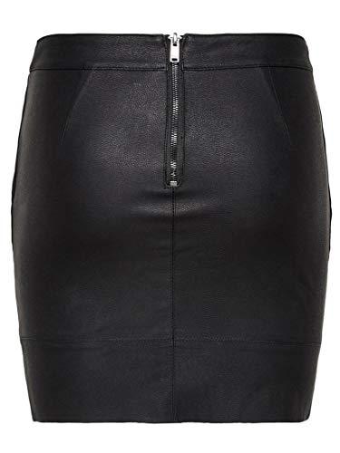 Only 15164809 Falda, Negro (Black Black), 44 para Mujer