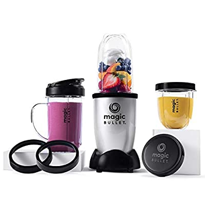 Magic Bullet Blender, Small, Silver, 11 Piece Set…