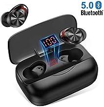 Auriculares Bluetooth 5.0 Auriculares inalámbricos Bluetooth In-Ear HiFi Sonido Estéreo 126H reproducción Cascos inalámbricos Bluetooth con 3000mAh Caja de Carga para Andriod y iOS