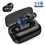 Auricolari Bluetooth 5.0, Cuffie Bluetooth Senza Fili 3000mAh 126H Playtime CVC 8.0 Cuffie Wireless Sport in-Ear HiFi 8D Stereo Sound Bassi Potenti con Microfono, per Android, IOS