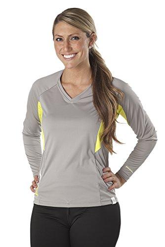 SUPreme Women's UV Shield - Long Sleeve Rash Guard Top, Smoke, 12 - Standup Paddleboarding, Swimming, & Water Sports