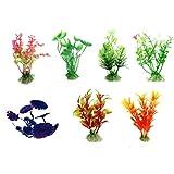 LYLGO Mini tanque de pescado agua hierba decoración adecuada para acuarios, peceras, paisajismo, plantas, tanque de peces de agua y hierba decoración (6 colores mezclados)