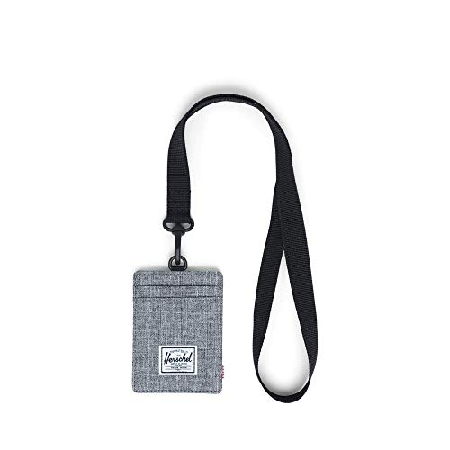 Herschel Supply Co. Charlie Wallet Lanyard RFID Raven Crosshatch Lanyard/Black One Size