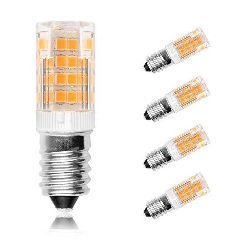 Ascher 4er Pack E14 5W LED Lampe (vgl. 30W Halogen) 350 Lumen - E14 LED Warmweiß- AC 220V-240V - LED Leuchtmittel 360°