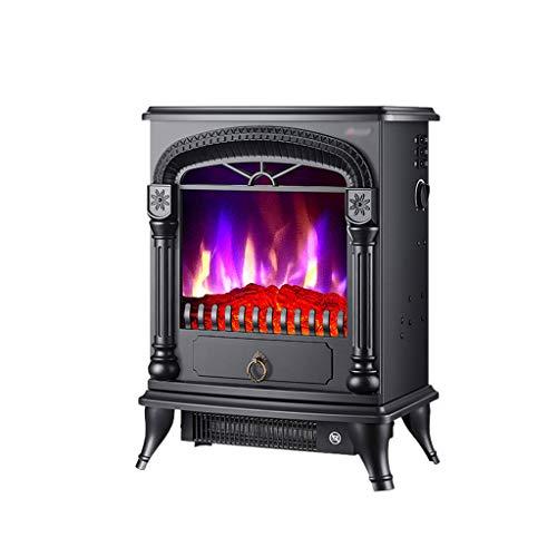 SHENXINCI Elektrischer Kamin mit Flammeneffekt - Elektrokamin,1000/2000 Watt, Thermostat, Heizfunktion,stufenlos Dimm- Und Heizbar, Zwei Gänge Einstellbar,weiß