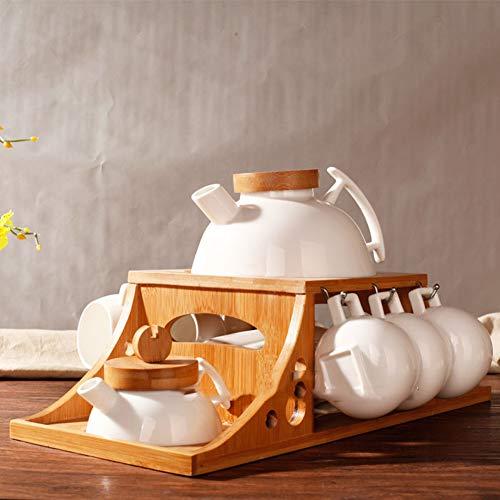CLX Schrankeinsatz Tassenhalter, Spider Mug Tassen/Becherhalter, Rostbeständig, Stoßfest, Maximale Belastung 3KG - für 8 Tassen, Chrom,Braun