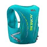AONIJIE Veste de randonnée avec sac à dos de sport de 12L intégré, légère, pour le plein air, les marathons, la course à pied, le cyclisme, Vert menthe M/L