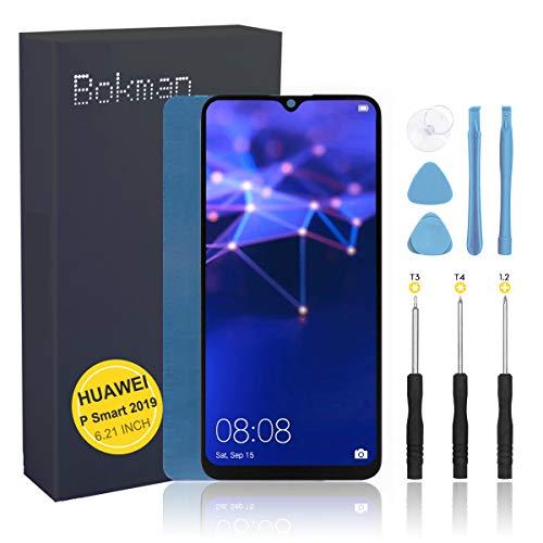 bokman Schermo Display LCD per Huawei P Smart 2019 Nero, Touch Screen Digitizer Parti di Ricambio con Strumenti di Riparazione