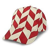 赤い模様 キャップ 湾曲したエッジ 野球帽 調整可能 ファッション 通気性 日よけ帽
