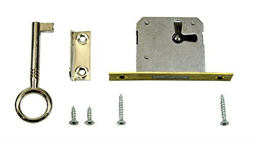 SN-TEC Einsteckschloss/Möbelschloss / Schrankschloss 30mm Dornmaß rechts/links/oben verwendbar incl. Zubehör