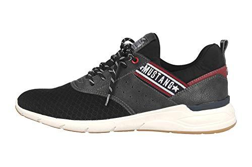 MUSTANG Shoes Halbschuhe in Übergrößen Schwarz 4151-301-9 große Herrenschuhe, Größe:49