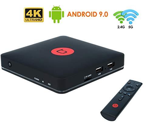 TECHBITE Flix TV Box Android 9 Smart TV Box 2GB RAM, 8GB ROM, mit Google Assistent, Amlogic S905X3 64-bit Quad Core, unterstützt 4K HDR H.265, Wi-Fi 2.4Ghz/5Ghz, HDMI, Bluetooth, USB, Ethernet