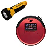 Toucan City LED Flashlight and bObsweep PetHair Robotic Vacuum Cleaner and Mop, Rouge WP460011RO