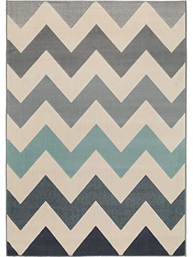benuta Teppich Dessert Blau 120x170 cm | Moderner Teppich für Wohn- und Schlafzimmer