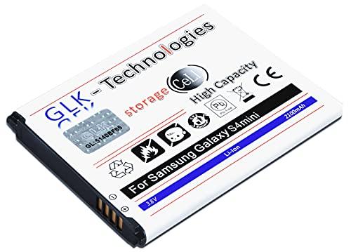 High Power Ersatzakku kompatibel mit Samsung Galaxy S4 Mini GT i9190 I9195 B500BE   Original GLK-Technologies Battery   accu   2100 mAh Akku   2021 B.j