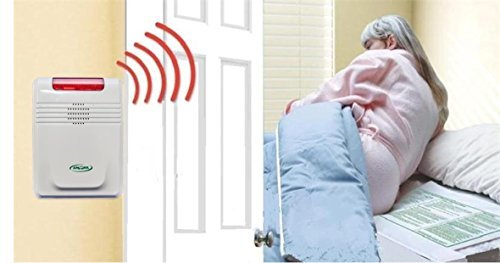 Wireless (Cordfree) Bed Alarm and Bed Pad/no Alarm in Patient's Room by Smart Caregiver