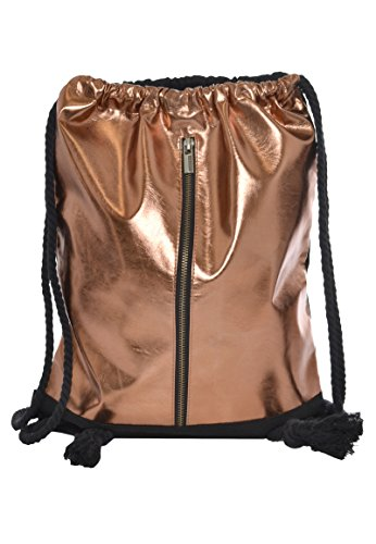 Sublevel Metallic Turnbeutel mit Zipper | Gym Bag | Leichter Daypack mit Kordeln copper one size
