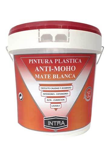 PINTURA BLANCA ANTI-MOHO - 1,2 KG -Evita la Aparición de Moho-Excelente Calidad-Interior-Exterior-Lavable-Gran Cubrición- 8 12m2 litro-Envases