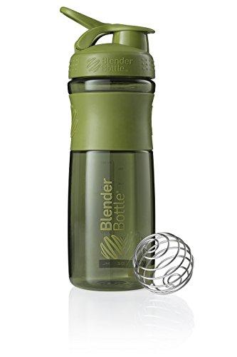 BlenderBottle Sportmixer Tritan Trinkflasche mit BlenderBall, geeignet als Protein Shaker, Eiweißshaker, Wasserflasche oder für Fitness Shakes, BPA frei, skaliert bis 760 ml, 820 ml, moos grün