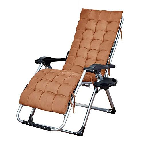 WJXBoos Sillas de jardín Plegables reclinables adecuadas para Personas Pesadas, Camping portátil Camping Gravedad Cero Gravedad Cero 65x75x115cm Silla Multifuncional (Color: Negro)