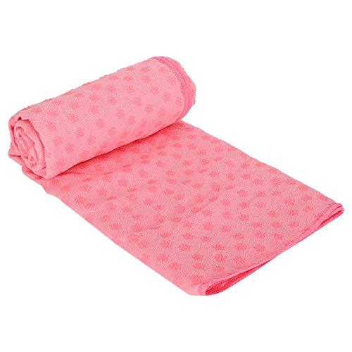 Manta Duradera de la Estera de la Yoga de la Toalla de la Estera de la Yoga para el Yoga Caliente para Pilates(Pink)