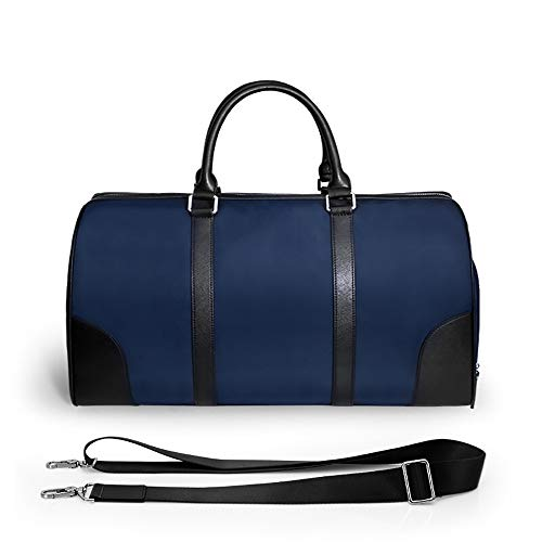 Multi-Purpose Fitness Duffle Bags Golf Clothes Bag Nylon Gym Handbag for Men and Women Sports Packet with Shoe Compartment Weekender Bag Unisex (Color : Blue, Size : 51.5x27 x26.5cm)