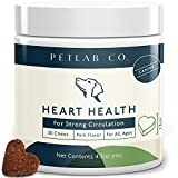 Petlab Co. Heart Supplement for Dogs   Promotes Optimal Heart Health & Maintains Healthy Skin & Coat Condition   Omega 3 Chews Vitamin C Fish Oil Dicalcium Phosphate