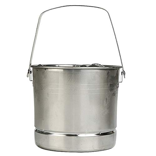 KULZTT Wine Set Stainless Steel Bar Summer Ice Bucket Champagne and Beer Cooler Crystal Lead-Free Glass Barrel Keep Ice Frozen Longer and Food Fresh, Chiller Bin Basket for Parties