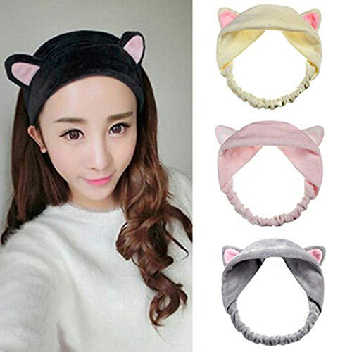 Evelove Lovely Cat Ears Headband Women Wash Face Shower Hair Band Headwear Accessories Headbands