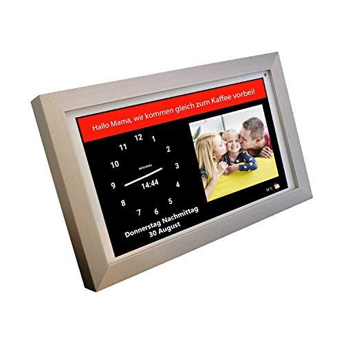 DayClocks Seniorenuhr 10″ mit Rahmen - inkl. Kalender und (Sprach-) Nachrichten- & Foto-Funktion - Digitale Uhrfür Senioren & Demenzkranke (z.B. Alzheimer) mit Erinnerungsfunktion