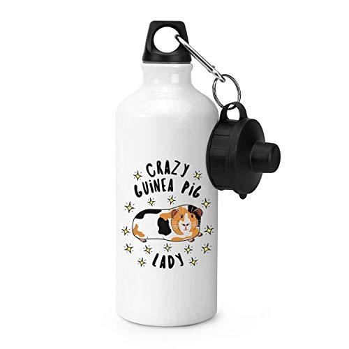 Verrückte Meerschweinchen Damen Sterne Sport Flasche