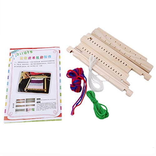 Bigsweety Wooden Kids DIY Weaving Loom Hand Sewing Knitting Machine Educational Toy Best Christmas Birthday Gift for Children
