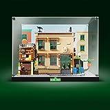 Elroy369Lion Vitrina acrílica transparente – Encimera de montaje para Lego Sesame Street 21324 – Vitrina antipolvo para Lego 21324 (juego Lego no incluido)