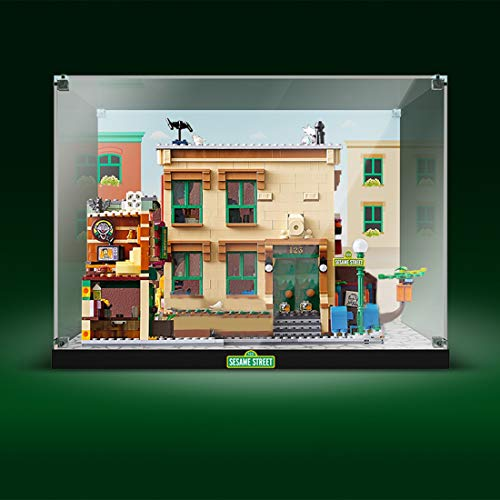 Giplar Vitrina de Acrílico Compatible con Lego Ideas 21324 Barrio Sésamo, Vitrina A Prueba De Polvo Caja de Exhibición (Juego de Modelo No Incluido)