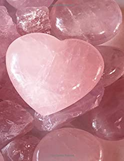 Rose Quartz Crystal Journal for Crystal Healers 8.5 x 11 Lined Pages