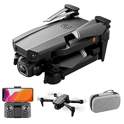 Drone pieghevole con doppia fotocamera adatto per adulti, bambini e principianti-Quadcopter RC con fotocamera Full HD 4K-Selfie Gesture Control-Ritorno automatico GPS-Follow me-Custodia per il traspo
