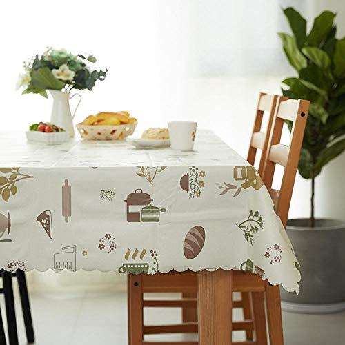 Yingqi Estilo de pintura Mantel de PVC mantel rectangular impermeable y a prueba de aceite hotel restaurante banquete fiesta mesa de café paño de escritorio@Estilo 4_El 140 * 180cm