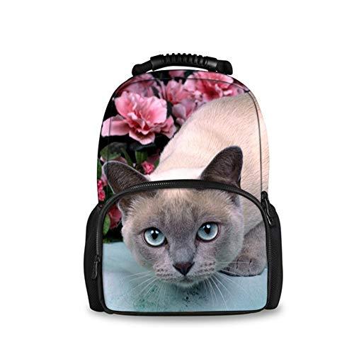 fhdc Zaino Simpatico Sacchetto Di Scuola Per Donne Animali Di Gatto 3D Per Borse Da Studente Per Donne Di Grande CapacitࠠH4334A