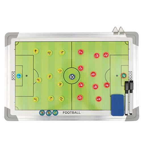 Aluminiumlegierung Magnetische Fußball Tactic Board Set Magnetic Coaching Trainingsboard Tactical Tactic Soccer Football Board, Multicolor