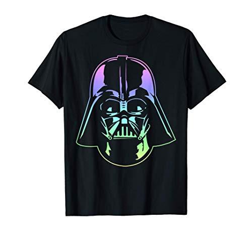 Star Wars Darth Vader Head Neon Gradient Graphic T-Shirt T-Shirt