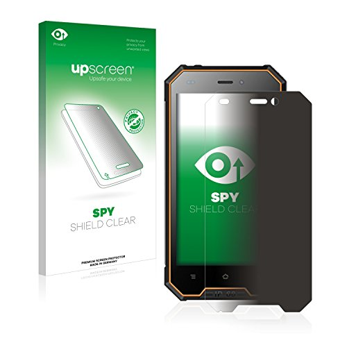 upscreen Anti-Spy Blickschutzfolie kompatibel mit Blackview BV4000 Pro Privacy Screen Sichtschutz Bildschirmschutz-Folie