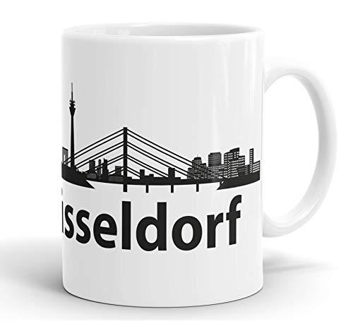 True Statements Tasse Ruhrpott Skyline Ruhrgebiet NRW - Kaffeetasse mit schönem Spruch - beidseitig bedruckt - spülmaschinenfest, stadt düsseldorf