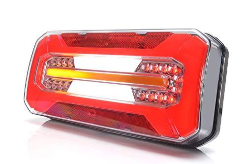 Feu arrière à LED pour camion, remorque de camion, 6 fonctions avec clignotant dynamique L/R 12 V-24 V 1298DD