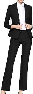 cheelot 女性2ボタン純カラーホテルオフィスブレザートップジャケットロングパンツ