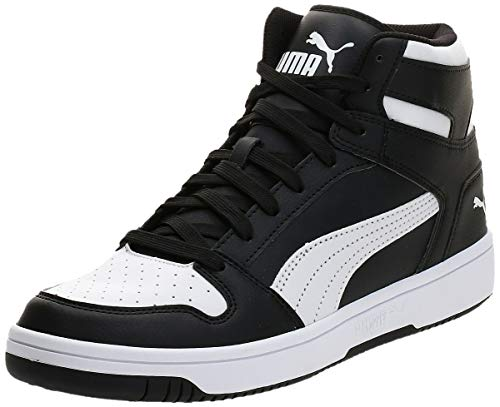 PUMA Rebound Layup SL, Zapatillas Unisex Adulto, Negro Black White, 45 EU
