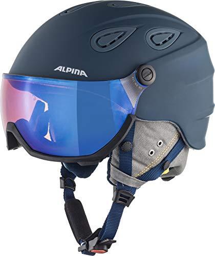 Alpina Unisex– Erwachsene GRAP Visor 2.0 HM Ski- und Snowboardhelm, Ink-Grey matt, 57-61 cm